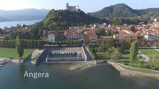 Video con drone realizzato ad Angera (VA) sul Lago Maggiore