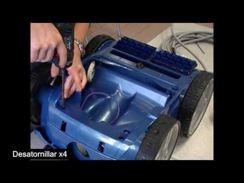 Limpiafondos eléctrico VORTEX   Desmontaje del cable flotante