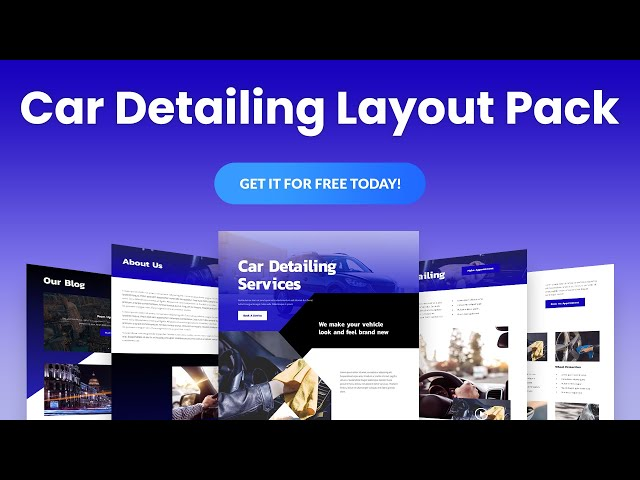 Get a FREE Car Detailing Layout Pack for Divi