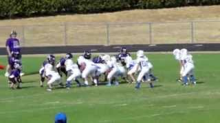 2nd grade football Hits 8 year old football