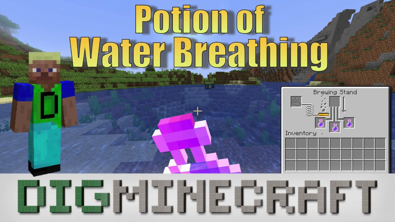 How to make a Potion of Water Breathing (3:00) in Minecraft