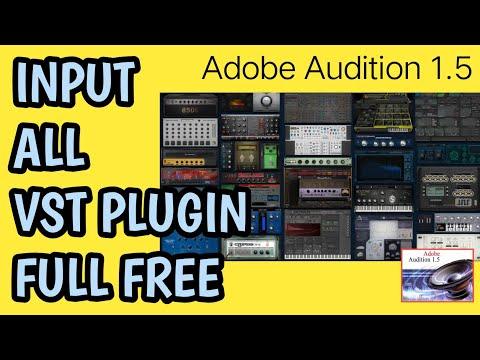 Cara Input Vst Plugin Kedalam Adobe Audition 1.5