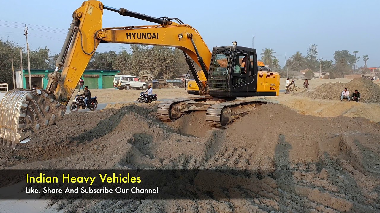 Excavator Video | Hyundai Excavator 215 LC -7 Machine Working Video | Indian Heavy Vehicles.