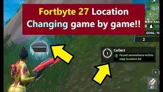 Fortnite Fortbyte 27 / Fortbite 27 LOCATION CHANGING Juego por Juego ? ¿Fortbyte 27 Bug?