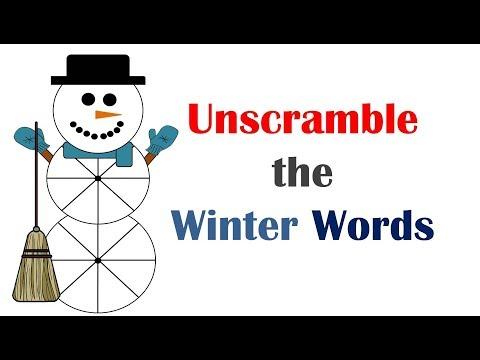 Unscramble the Winter Words