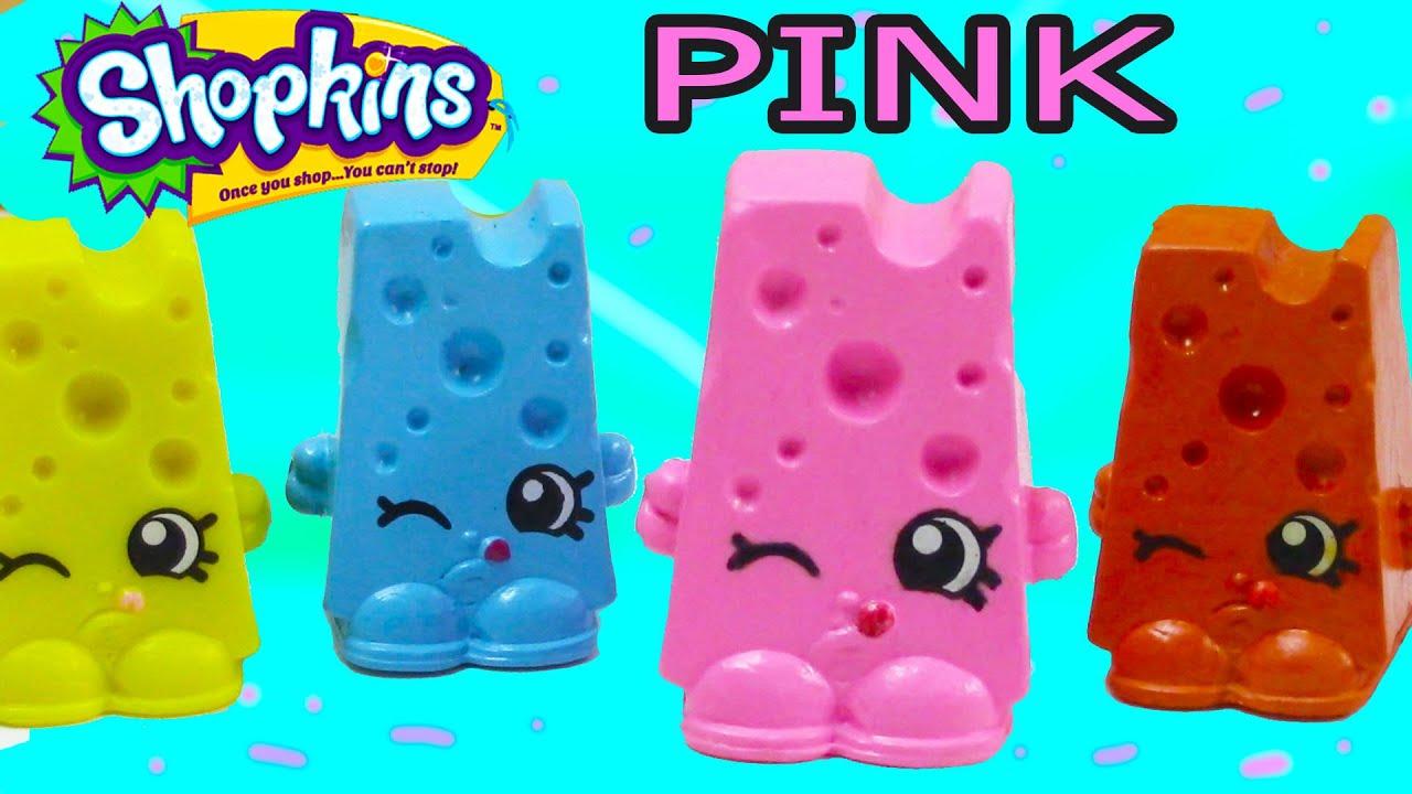 Custom Shopkins Pink Cheese Chee Zee DIY Inspired Painted Craft Kawaii Toy Cookieswirlc