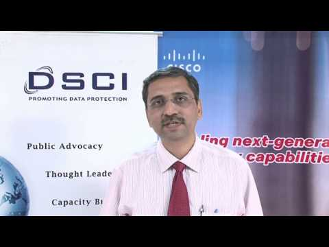 Atul Khatavkar speaking on DSCI-Cisco Security Thought Leadership Program