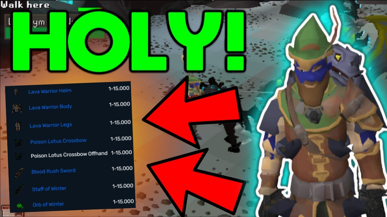 *INSANE* LUCK! 1:15000 DROP! Loot From Lachrym The Undyings (BIG GIVEAWAY) - Redemption RSPS