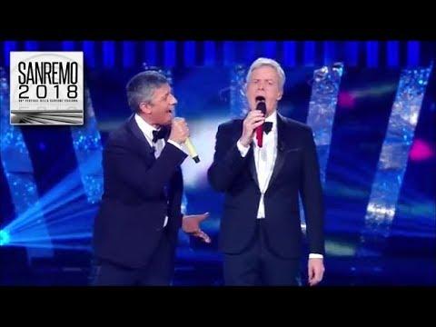 Sanremo 2018 - Il duetto di Fiorello e Claudio Baglioni