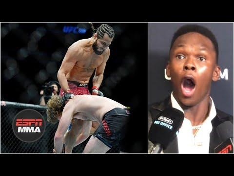 Israel Adesanya has incredible reaction to Jorge Masvidal KO of Ben Askren | UFC 239 | ESPN MMA