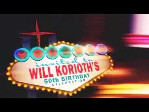 WILL KORIOTH 50th Birthday Invitation