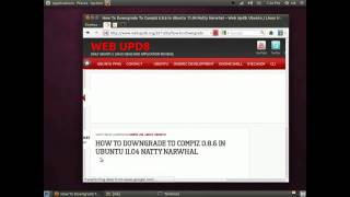 Downgrade compiz in natty fix (guido-iodice) ubuntu 11.04