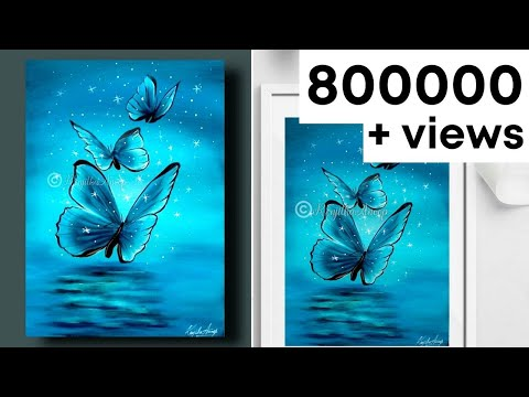 easy painting - acrylic painting - butterfly - how to paint - art
