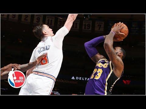 LeBron Scores 33 Points, Game-winner Blocked By Mario Hezonja | Lakers Vs. Knicks | NBA Highlights