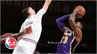 LeBron scores 33 points, game-winner blocked by Mario Hezonja | Lakers vs. Knicks | NBA Highlights