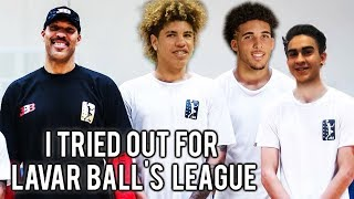 I TRIED OUT FOR THE JBA With LaMelo and Gelo! EXCLUSIVE LOOK at Lavars and Lonzos League!
