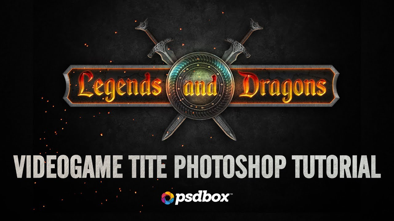 Design a video game title in Photoshop (PSD Box)
