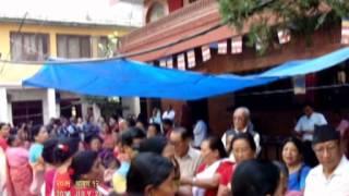 buddha pooja at gana bihar kathmandu 2014 07 28