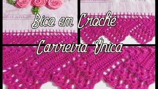 BICO EM CROCHÊ CARREIRA ÚNICA – BEAK IN SINGLE CROCHET CAREER -Diane Gonçalves