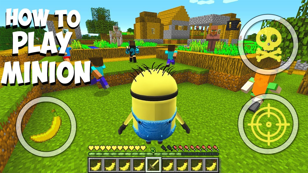 HOW TO TROLL PLAYERS AS MINION in MINECRAFT ! Scary Minion vs Minions Minecraft - Coffin Meme