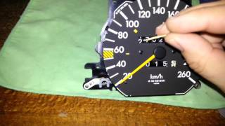 W124  как изменить показания одометра не снимая стрелки