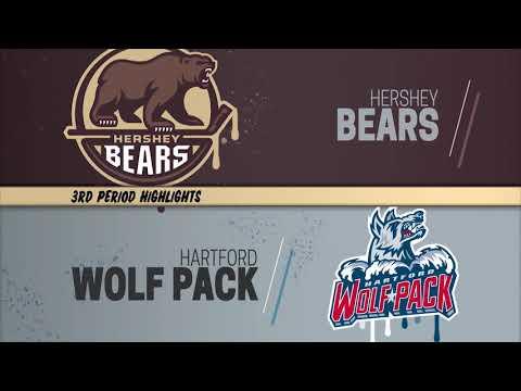 Hershey Bears 1 at Hartford Wolf Pack 2 (11/8/2019)