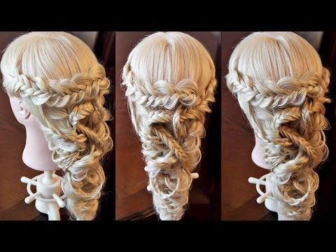 Причёска из колосков в средневековом стиле - Hairstyles by REM