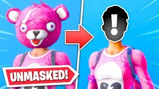 UNMASKING Fortnite skins... FACES REVEALED!