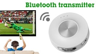 Avantree Bluetooth transmitter for TV,connect low latency wireless adapter to headphones, Priva II