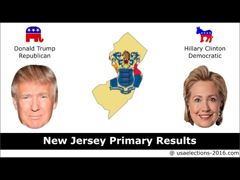New Jersey Primary Result 2016 : US Election 2016