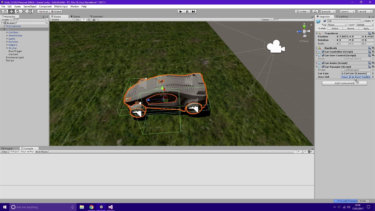 Unity 5 | C# | Get In/Out Of Car | Tutorial | Download Project