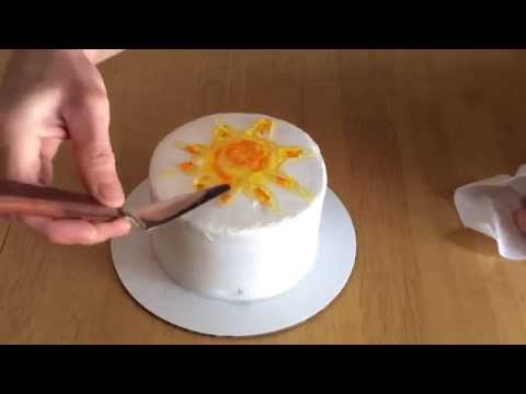 How To Use Cake Decorating Gel : Cake Decorating With Piping Gel: Summer Sun - YouTube