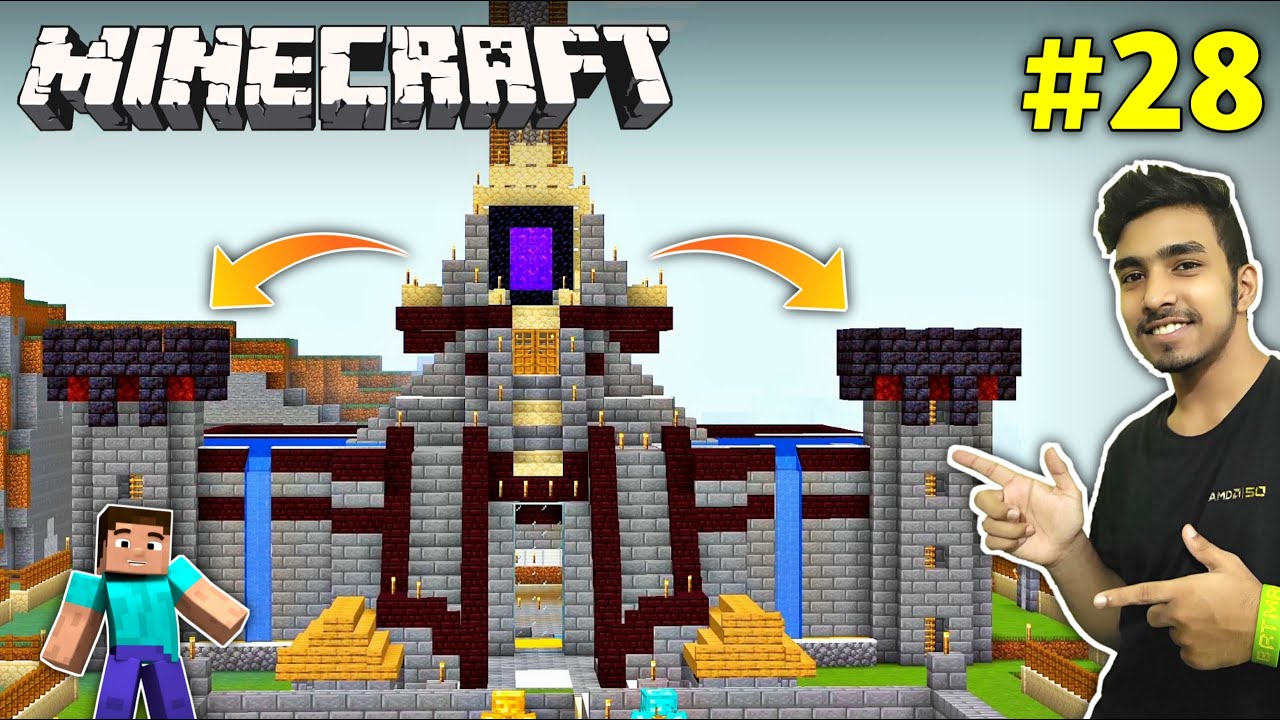 Download I BUILD WATCHTOWER ON MY CASTLE | MINECRAFT GAMEPLAY #28