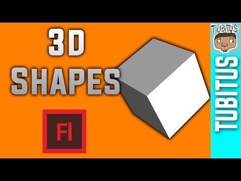 How to make 3d objects in Adobe Flash tutorial - without 3d modeling softwares