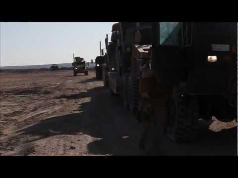 Marines convoy in Afghanistan