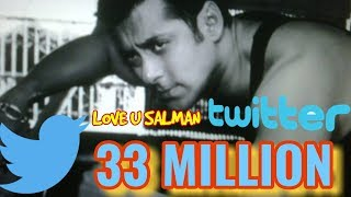 HUGE MILESTONE FOR SALMAN KHAN 33 MILLION FOLLOWERS ON TWITTER