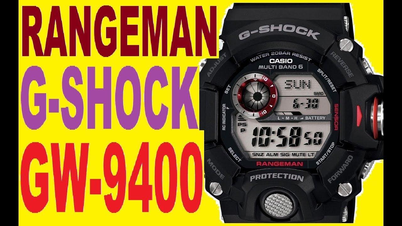 Casio G-shock Rangeman Gw-9400 Manual 3410
