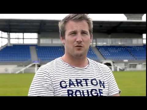 Interview Nicolas Fautrat. Entraineur de l'équipe A du Fc Saint-Lô Manche.