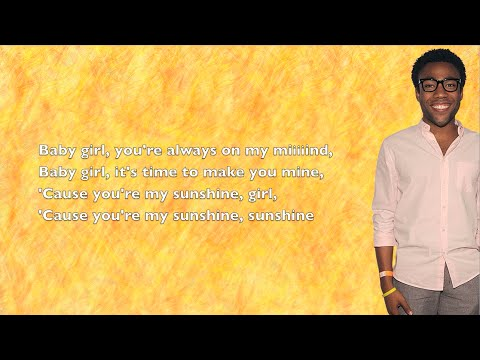 Childish Gambino - Sunshine - Lyrics