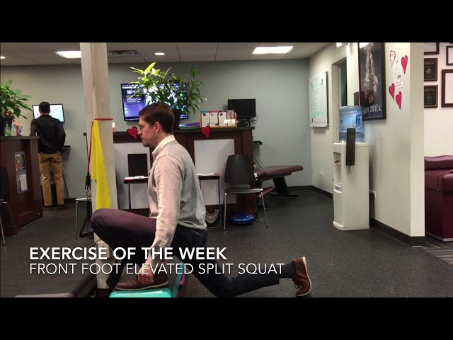 Split squat | Exercise Of The Week | Advanced Spine & Sports Care Chicago