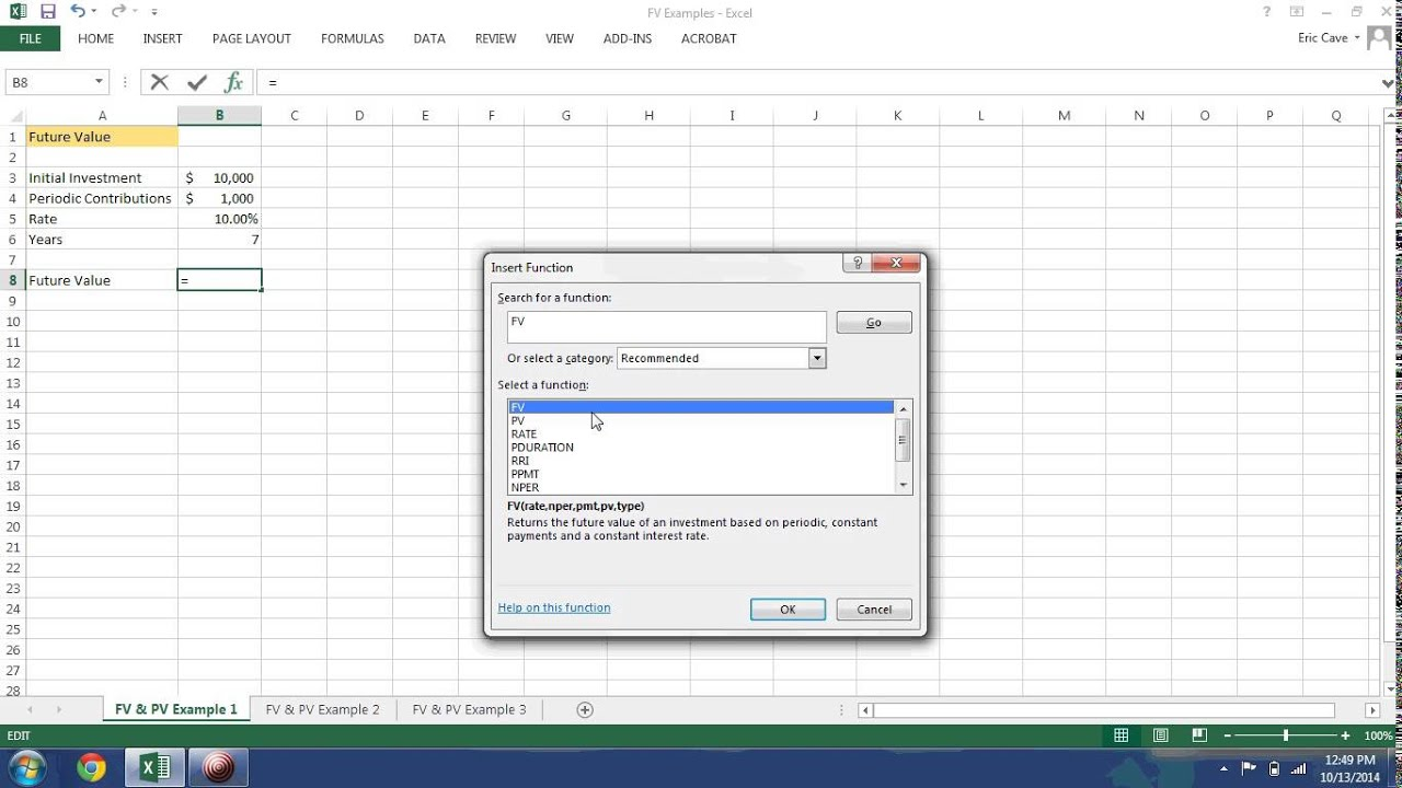 Time value of money excel example 1 youtube ibookread Download