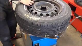 Шины Bridgestone MY 02  проверка дисбаланса на 200 км/ч