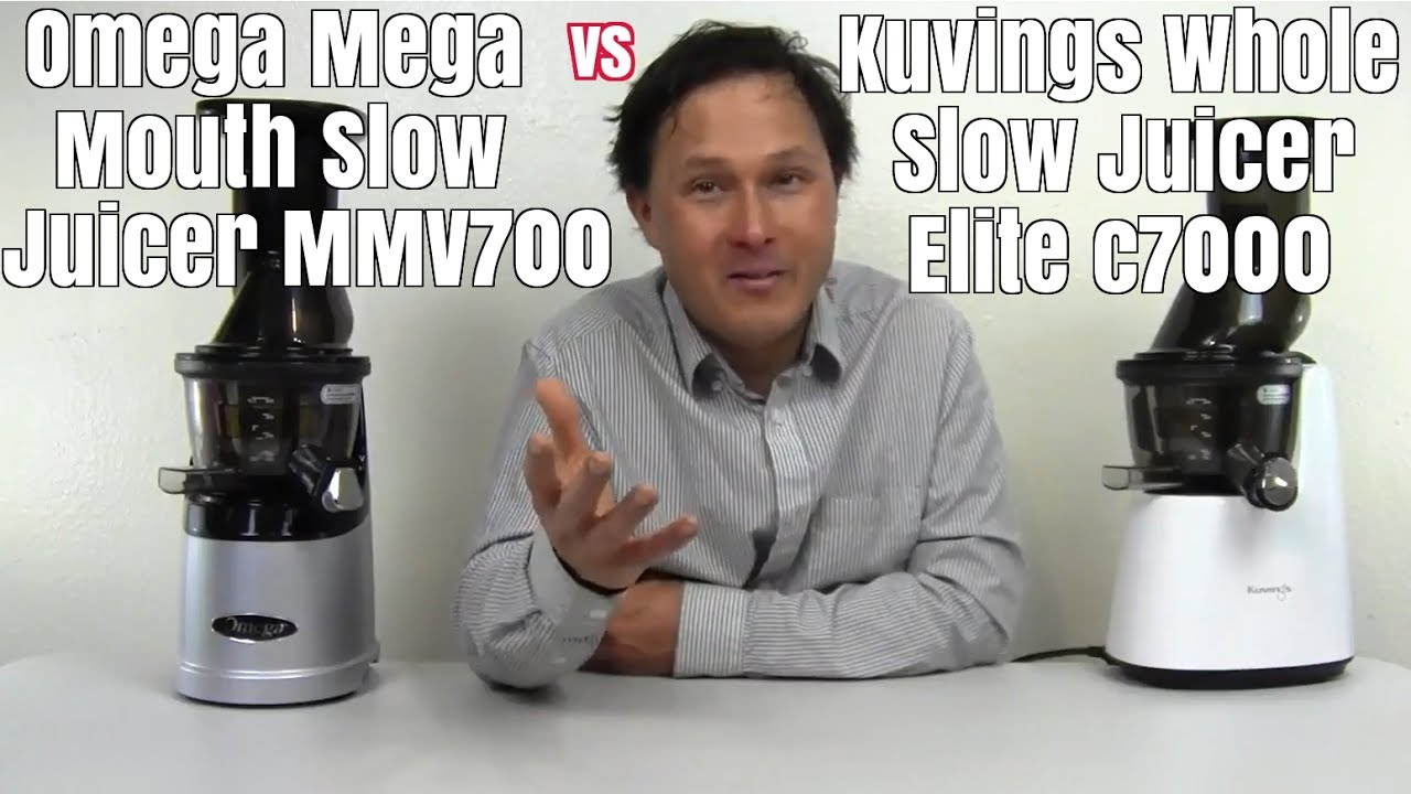 Kuvings Whole Slow Juicer Elite C7000 : Omega Mega Mouth MMv700 vs Kuvings Whole Slow Juicer Elite C7000 Comparison Review - YouTube