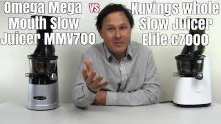 Omega Mega Mouth MMV700 vs Kuvings Whole Slow Juicer Elite C7000 Comparison Review