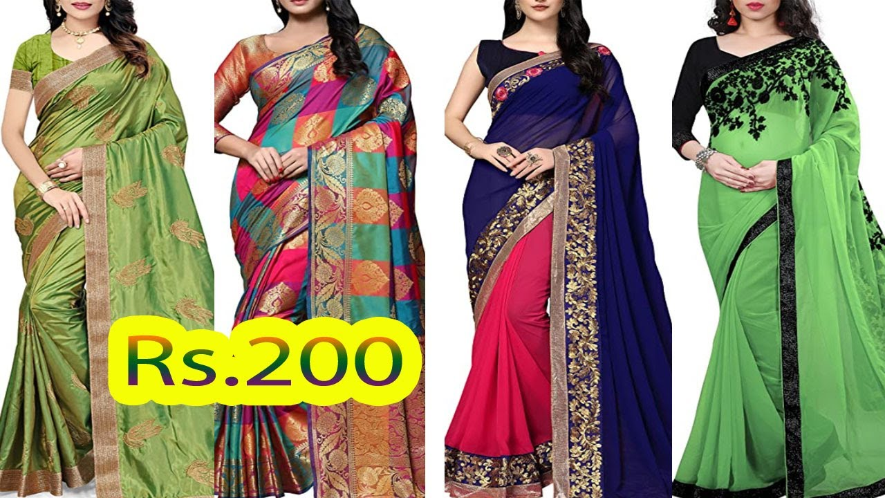 Rs 200 Up Daily Wear Saree Collection With Amazon Designer Price || Shopping Online Saree