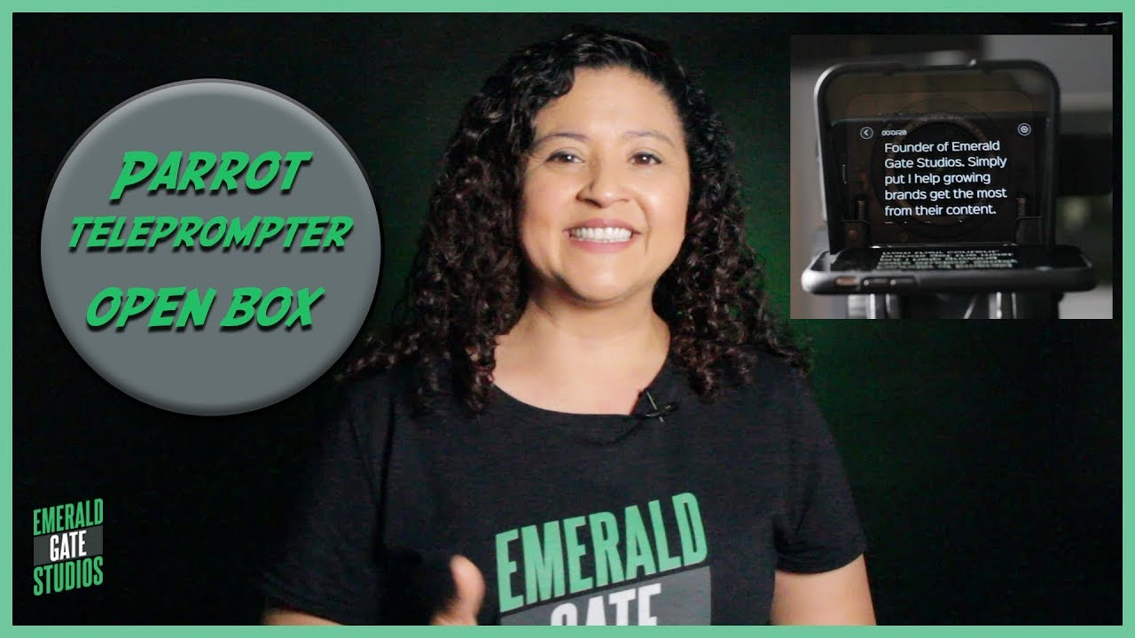 Open Box Review of the Parrot Teleprompter