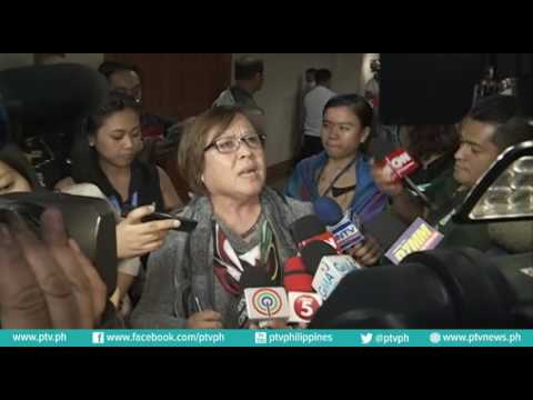 Ambush interview with Senator Leila De Lima after she walked out of the Senate hearing on EJKs