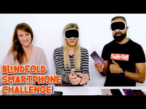 Smartphone Blindfold Challenge! | iJustine vs. SuperSaf