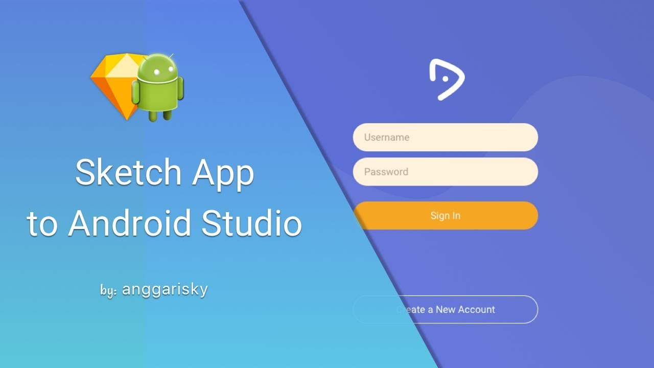 Login UI Tablet using Sketch and Android Studio Tutorial