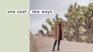 Vintage Camel Coat Styled Two Ways | Small Thrifted Closet | Alli Cherry
